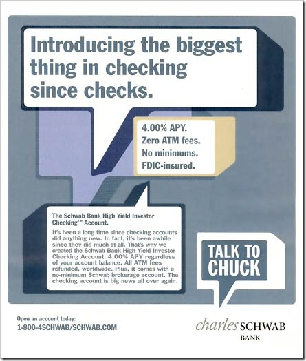 charles schwab co inc the talk to chuck advertising campaign Charles schwab & co, talk to chuck advertising campaign ad clips, video supplement (dvd) harvard case study solution and hbr and hbs case analysis related posts charles schwab & co talk to chuck advertising campaign ad clips video.