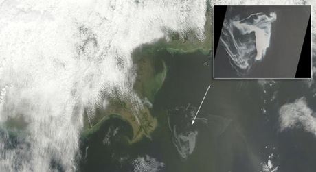 NASA  Satellite Gulf Oil Deep Horizon Well Leak